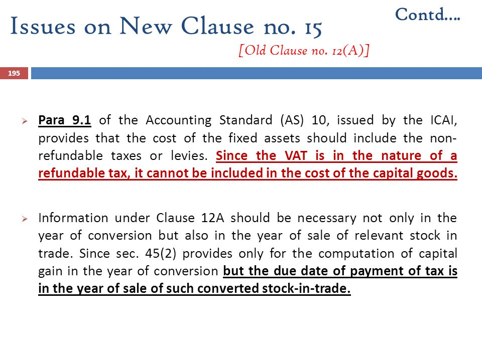 Issues on New Clause no. 15 [Old Clause no. 12(A)]